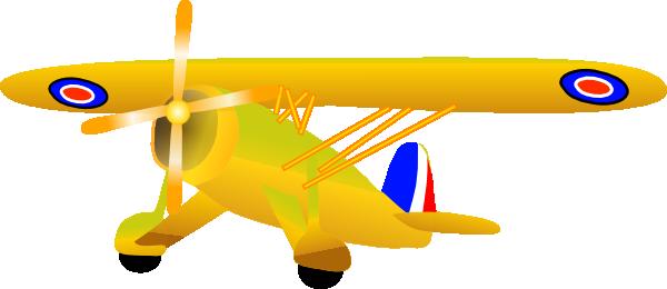 jpg transparent stock Propel plane clip art. Biplane clipart yellow.