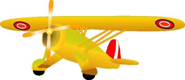 vector freeuse Danish propel plane clip. Biplane clipart yellow.