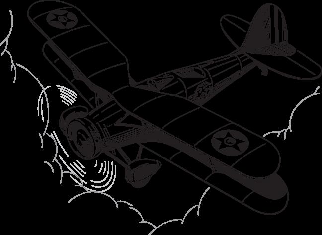 vector royalty free library Biplane Drawing at GetDrawings