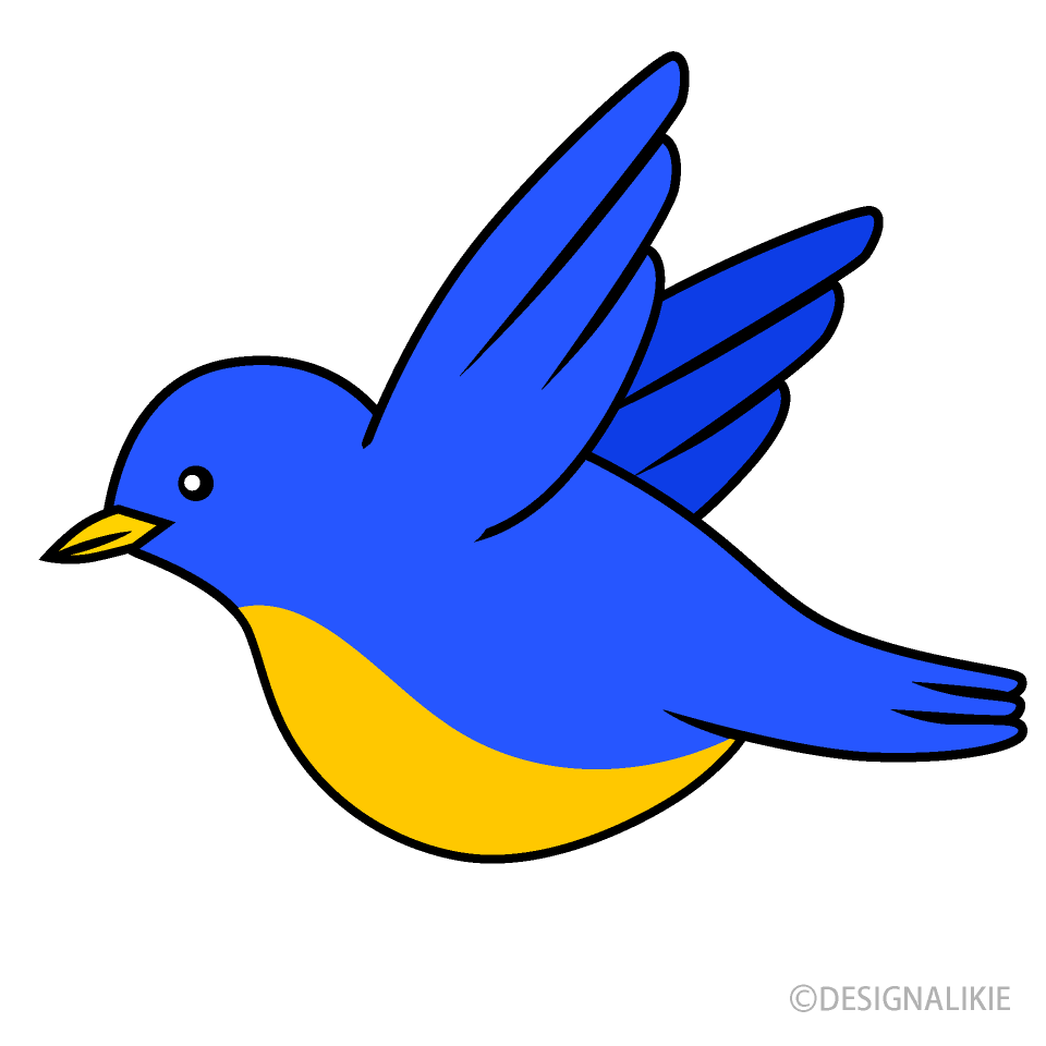 svg download Bird clipart. Flying blue free picture.