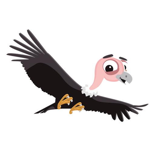 vector transparent stock Bird clipart buzzard. Vulture cartoon png free.