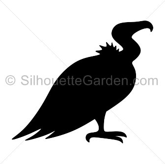 picture freeuse Vulture silhouette clip art. Bird clipart buzzard.