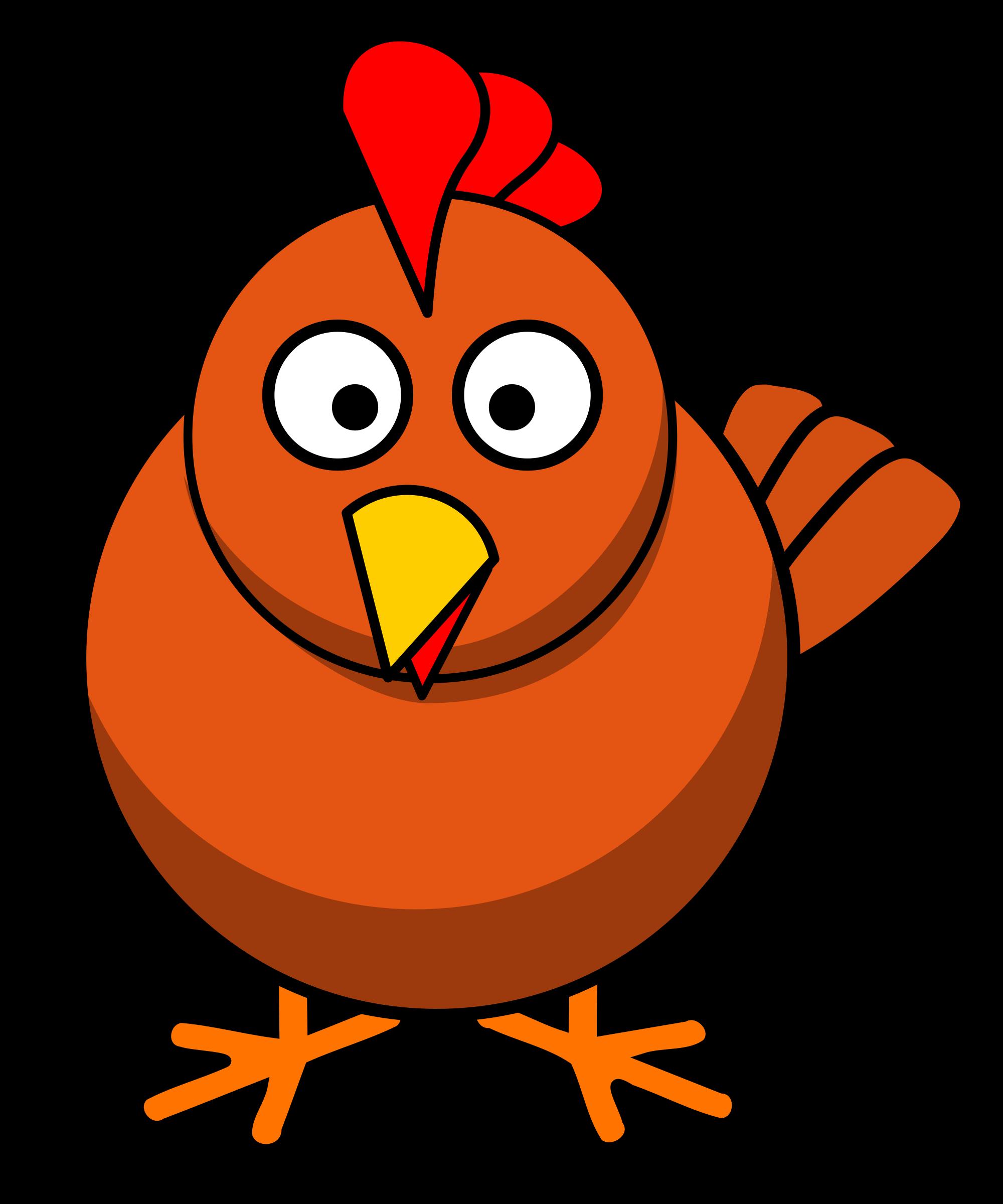 picture freeuse Round cartoon big image. Bird clipart chicken.