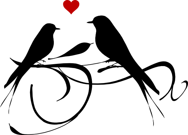 picture black and white Lovebird Clipart couple bird