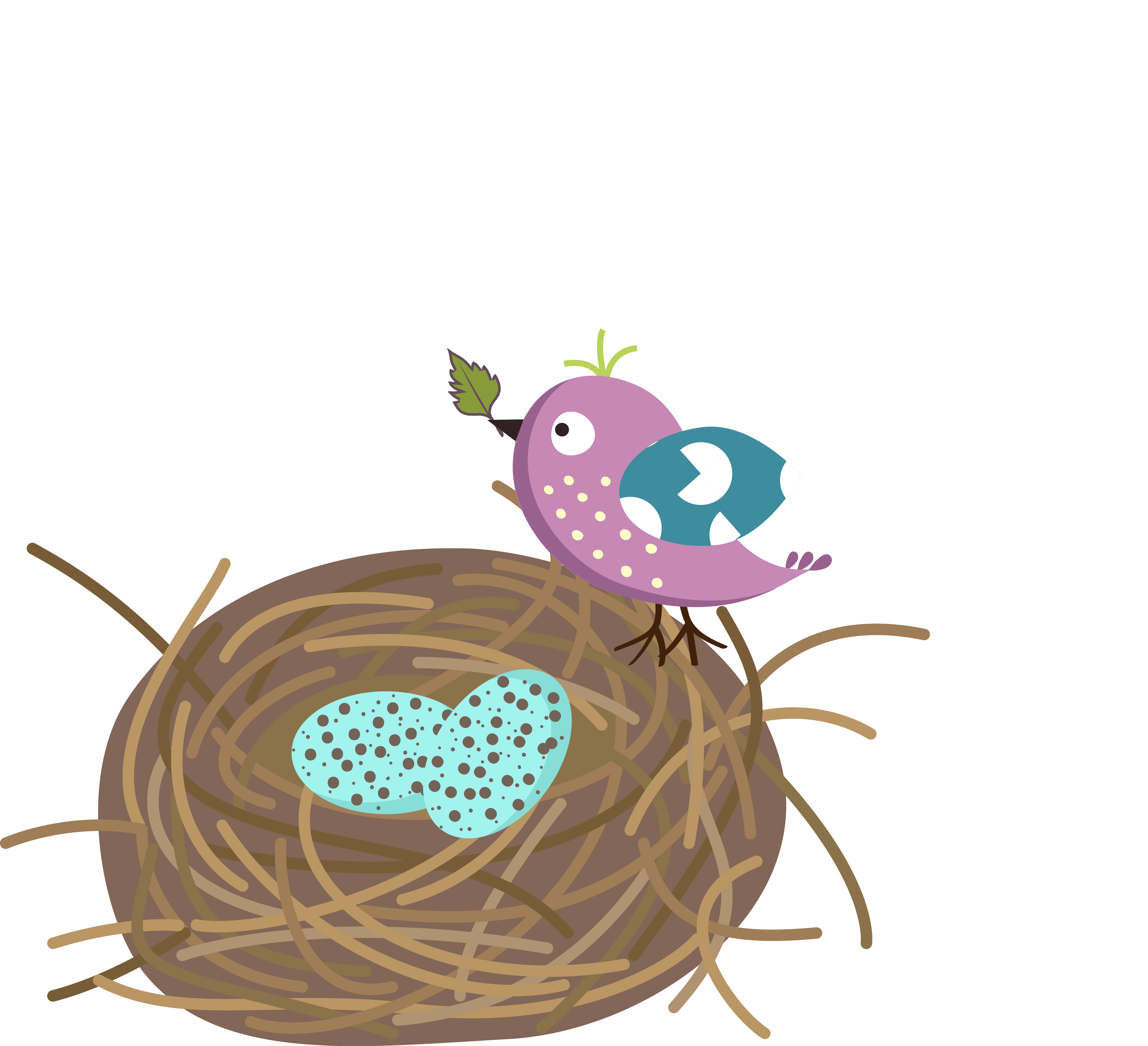 graphic Bird Nest Clipart at GetDrawings