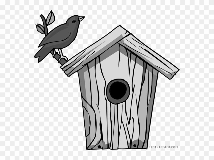 png black and white stock Png transparent bird house. Birdhouse clipart