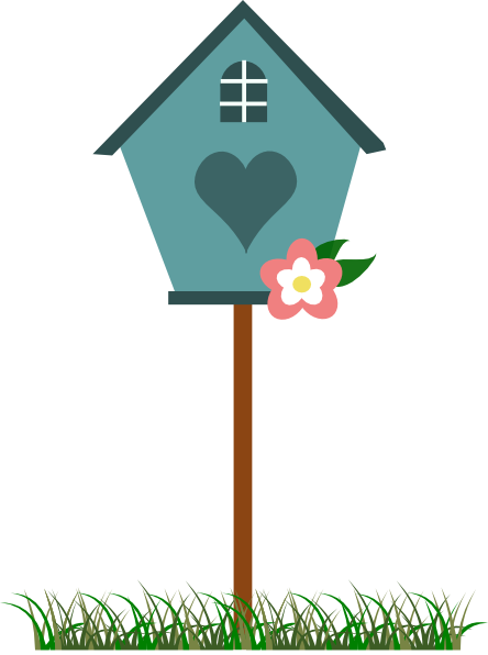 image library Free bird house and. Birdhouse clipart