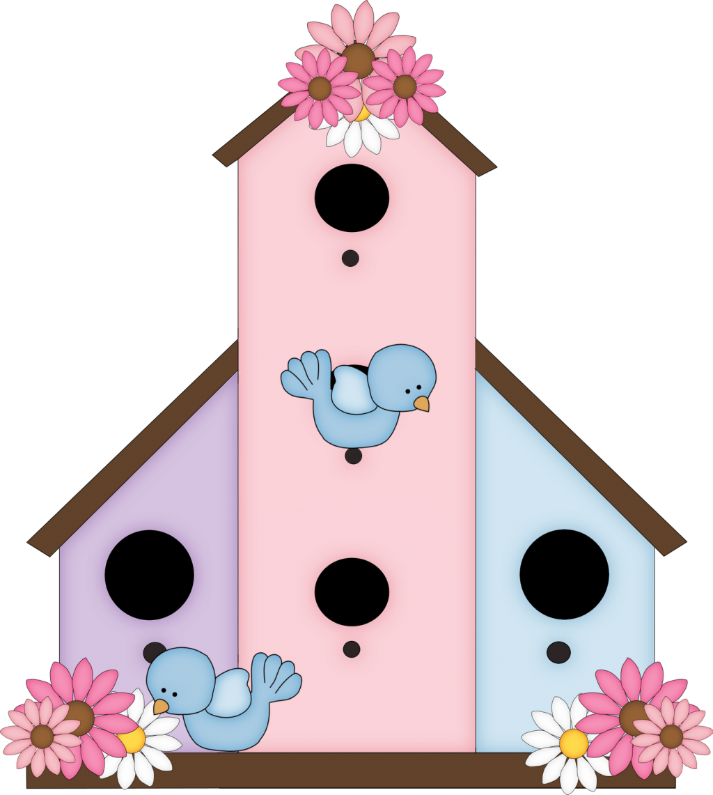 clipart black and white Birdhouse clipart. Cute free images clipartandscrap
