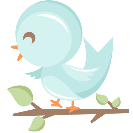 png freeuse download Bird in tree svg. Cute birds clipart