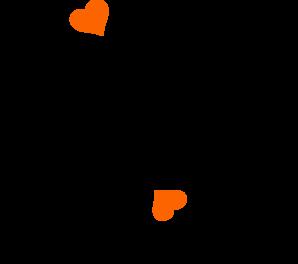clipart transparent stock Birds On A Branch Hearts Clip Art