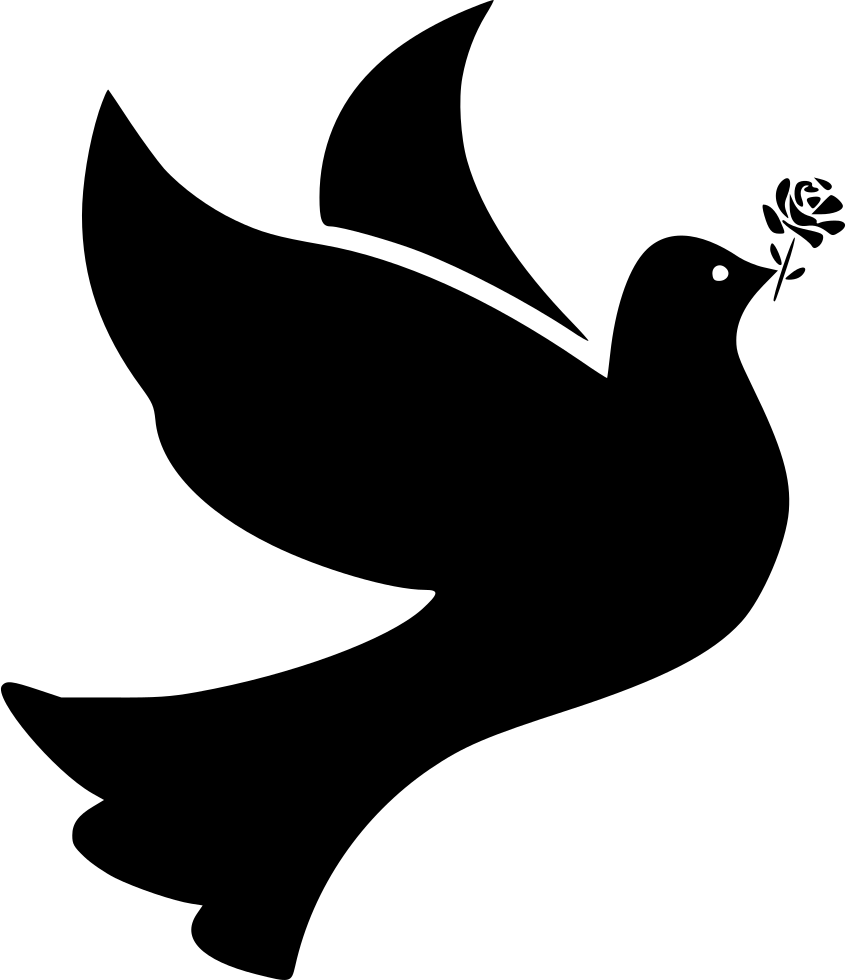 svg free download Bird Birds Dove Doves Flight Fly Flying Peace Rose Svg Png Icon Free