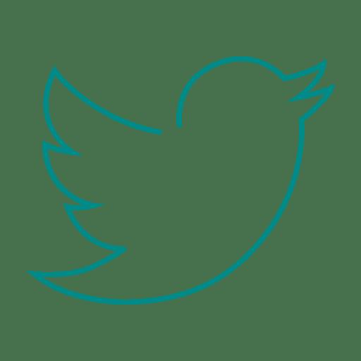 download Blue twitter bird line icon