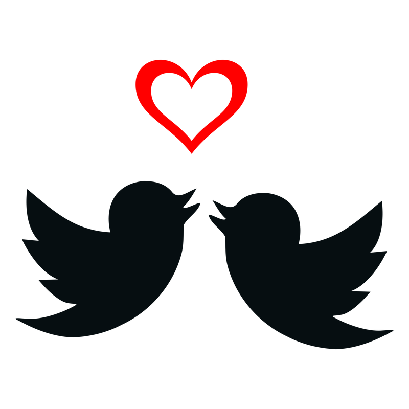 clipart transparent Love Birds Silhouette Clip Art at GetDrawings
