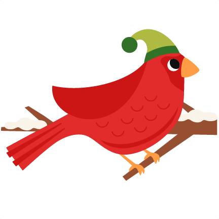clip library Red Christmas Bird scrapbook clip art christmas cut outs for cricut
