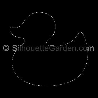 clip art freeuse Duck svg stencil. Rubber silhouette clip art