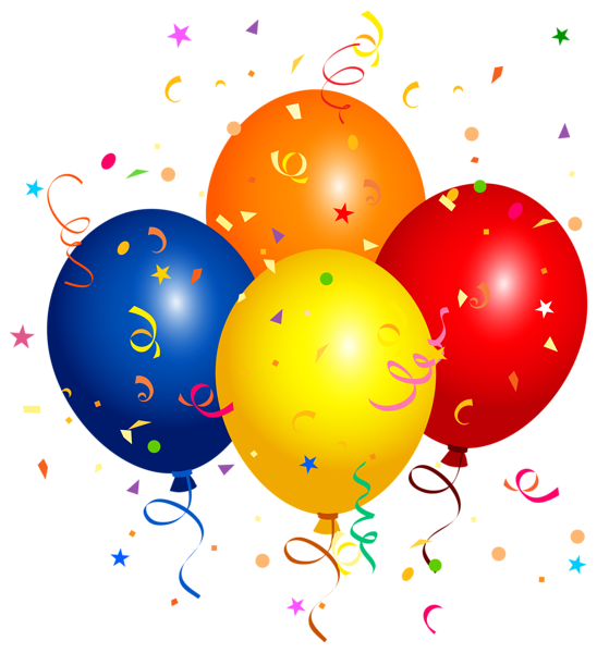 picture free download Confetti and Balloons PNG Clipart Image