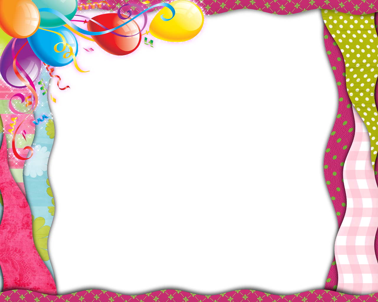 png black and white download Balloon borders clipart. Birthday border png google.