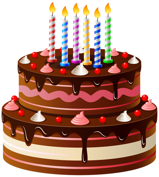 clip black and white stock Birthday Cake PNG Clip Art