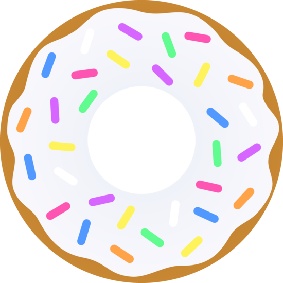 svg transparent Vanilla Donut With Sprinkles