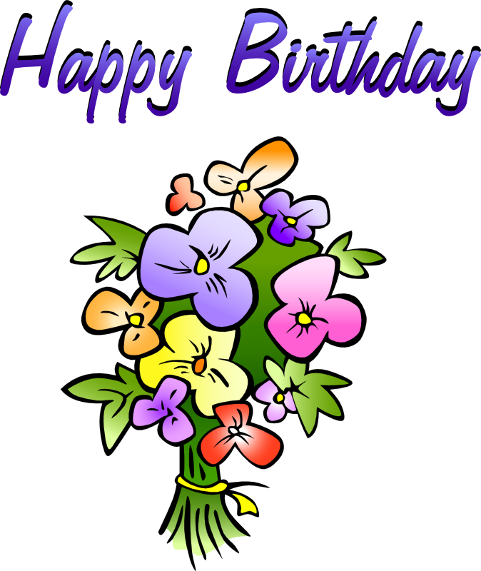 library Birthday clipart. Free animations vectors floral.