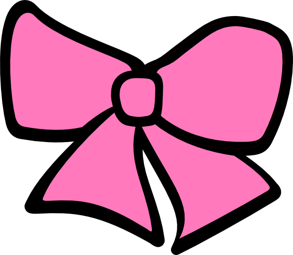 clip transparent Pink Cheerleading Bow Clipart