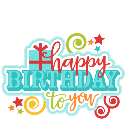 vector free download Happy Birthday to You Title SVG scrapbook cut file cute clipart