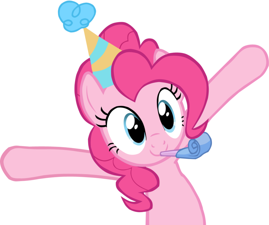 picture black and white download Birthday clipart my little pony. Image fanmade pinkie pie.