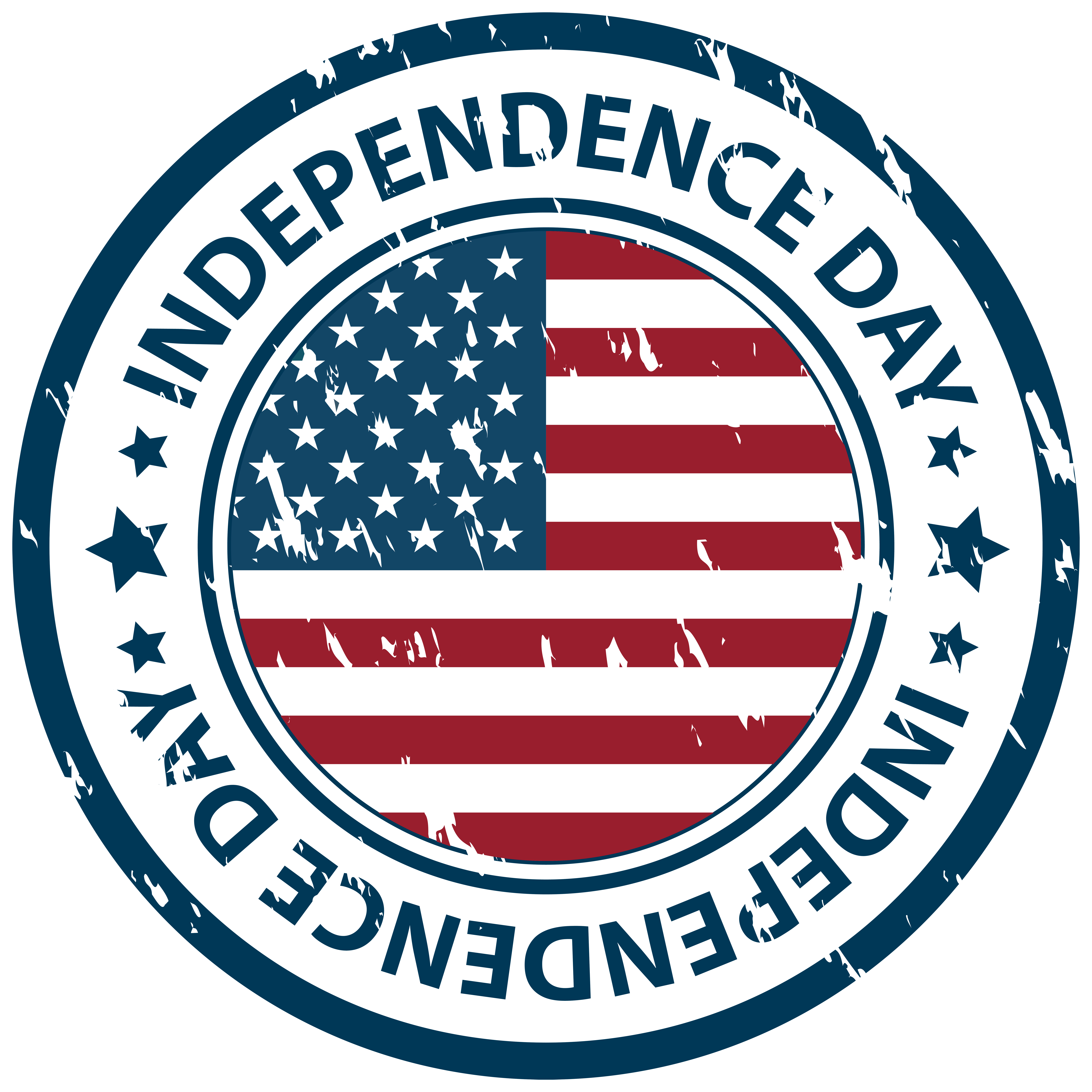 graphic library Independence Day Stamp PNG Clip Art Image