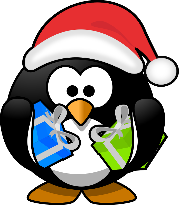image free Christmas Penguin Clipart clipart santa penguin surprise birthday