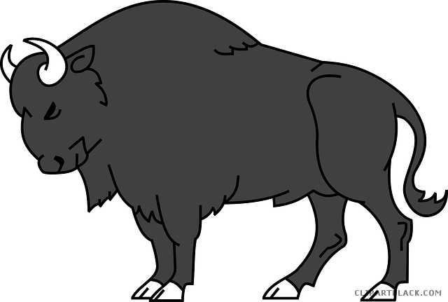 clip stock Clipartblack com animal free. Bison clipart