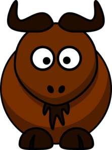 clipart royalty free library Clip art at clker. Bison clipart