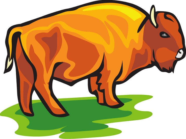 graphic royalty free library Bison clipart cute. Free download best on.