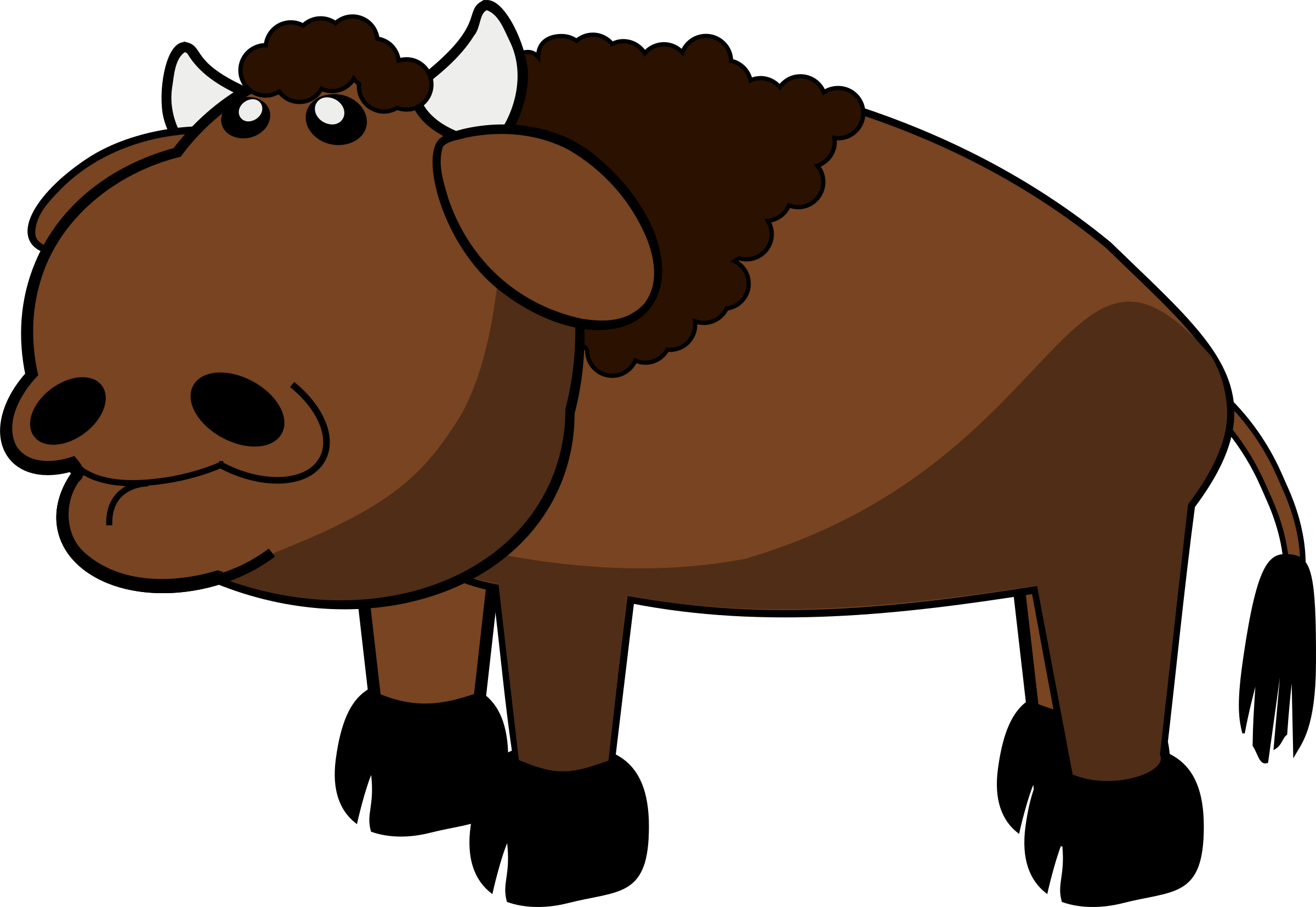 clip royalty free Big image png. Bison clipart cute.