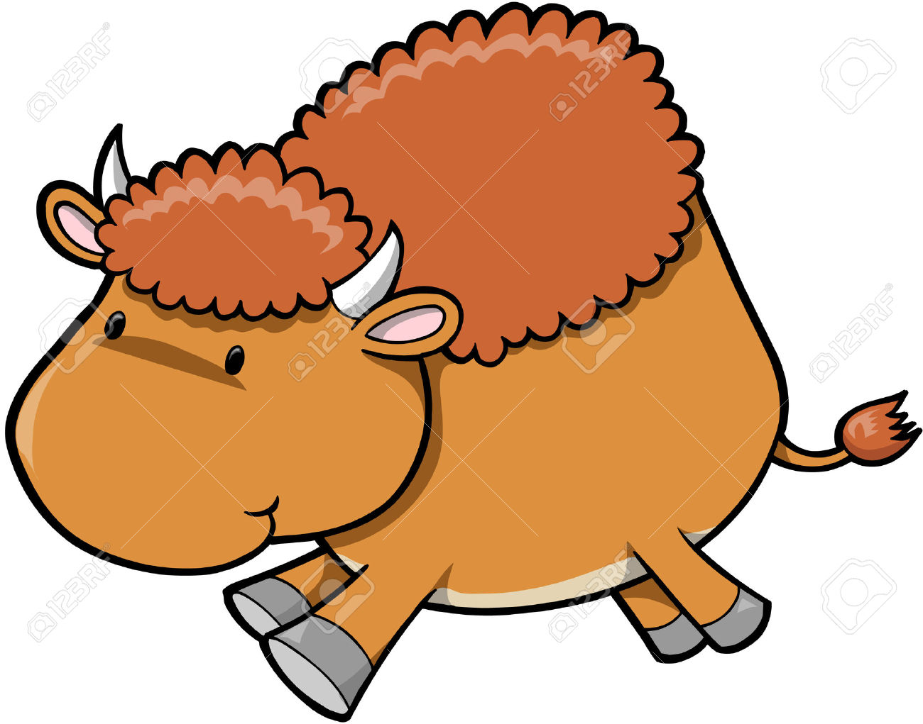 banner Bison clipart cute. Free cartoon cliparts download.