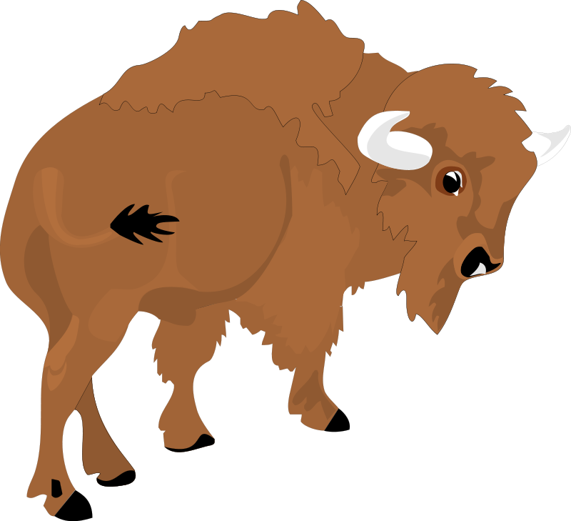 clip art royalty free library Bison clipart cute. Animl free on dumielauxepices.