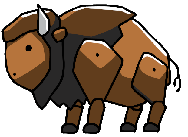 clipart library Scribblenauts wiki fandom powered. Buffalo clipart buffalo calf.