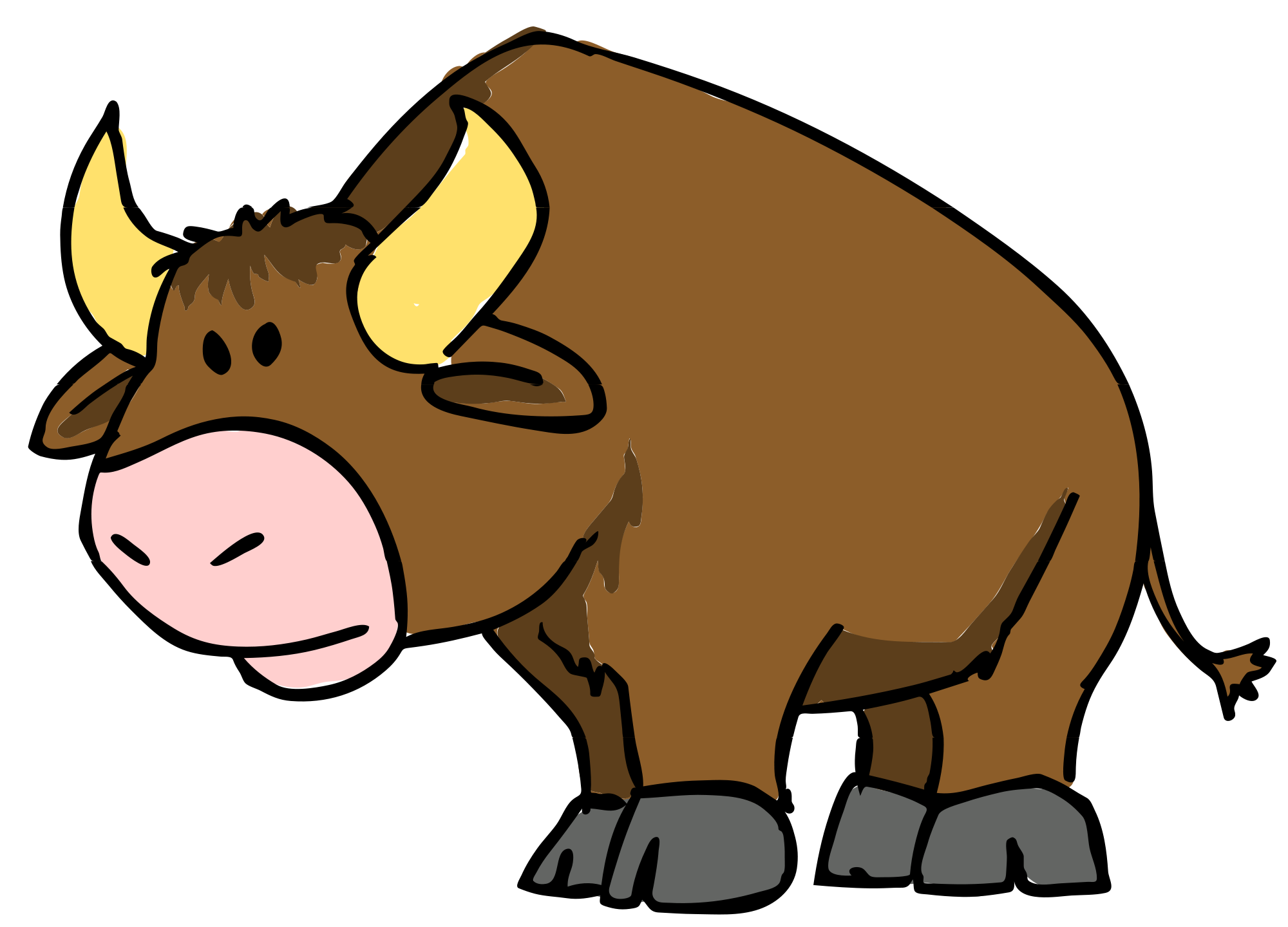 banner black and white stock Buffalo cartoon drawing at. Bull clipart toros