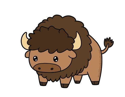 clip art stock Bison clipart kawaii. Learn to draw a.