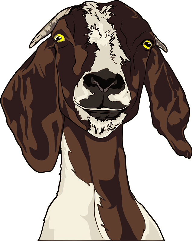 clip transparent library Goats head free on. Bison clipart kawaii.