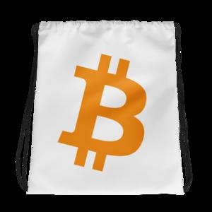 graphic library library B original drawstring crypto. Bitcoin transparent bag
