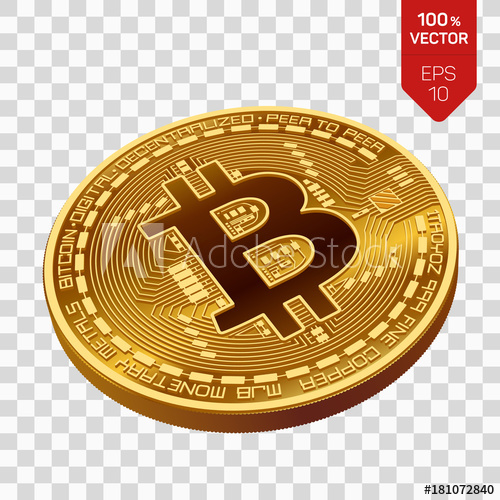 graphic royalty free library Bitcoin transparent physical. D isometric bit coin
