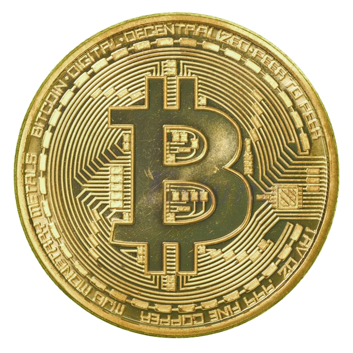 clip black and white stock  fine gold plated. Bitcoin transparent physical