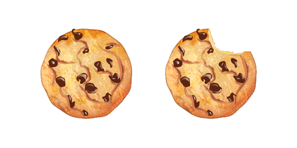 png royalty free stock Bite vector cookie. How to create a