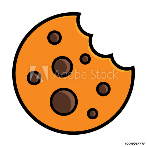 image freeuse library Simple flat icon marks. Bite vector cookie