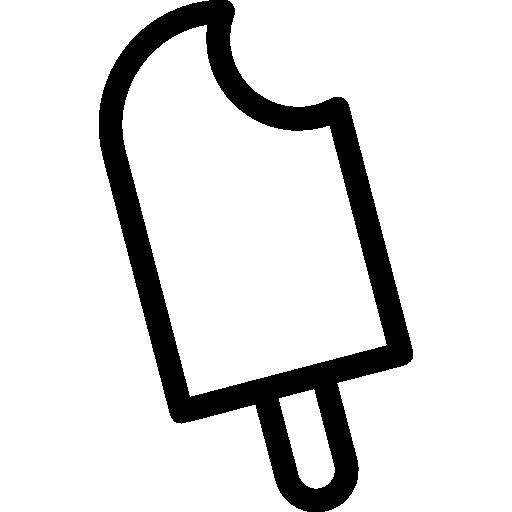 banner free download Bitten free food icons. Bite vector ice cream