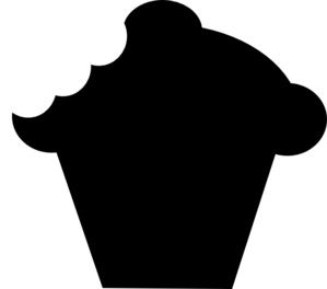 banner black and white library Cupcake clip art at. Bite vector silhouette