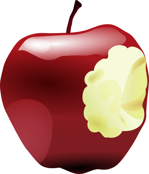 jpg library Apple Bitten Clip Art at Clker