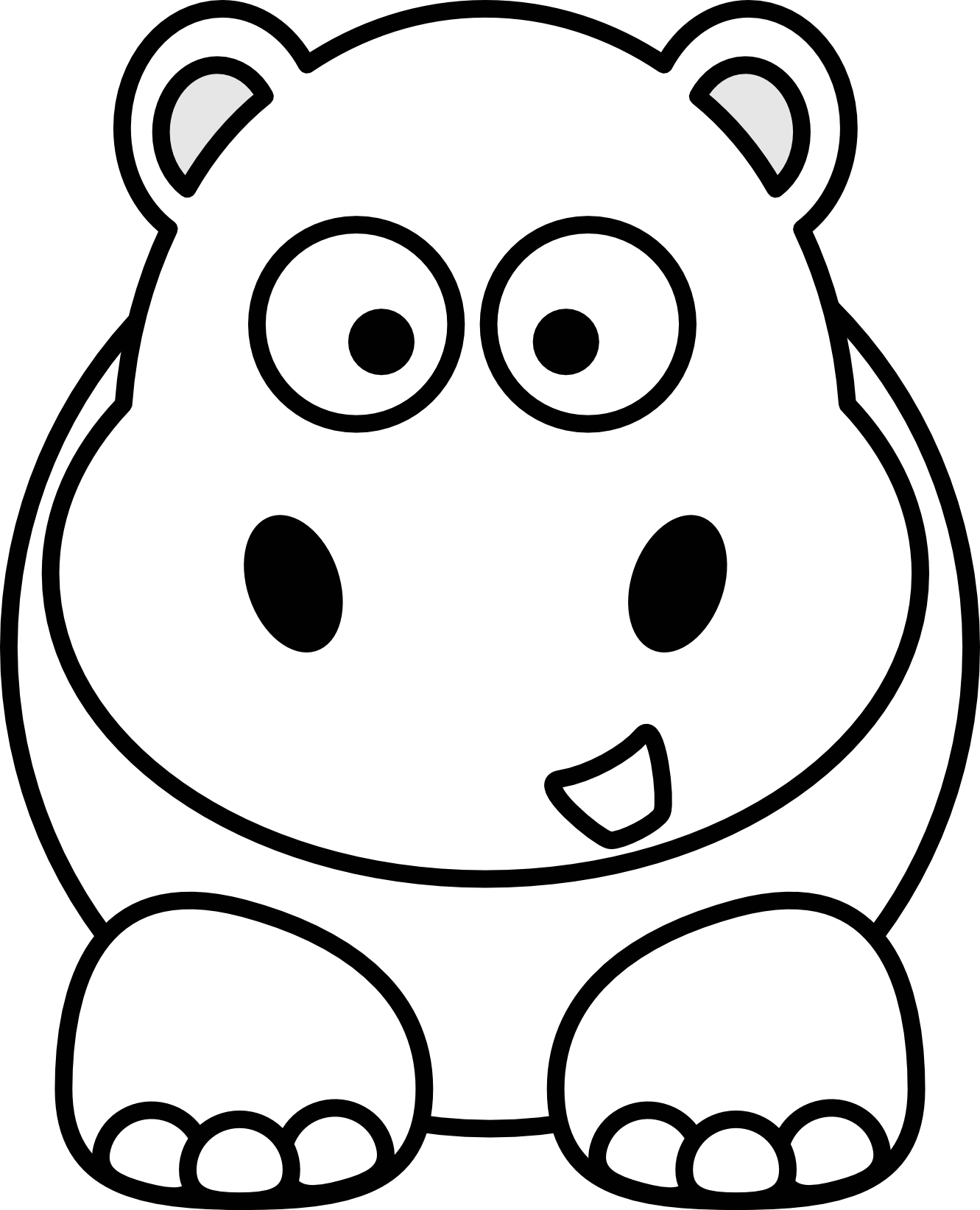 graphic library Panda free images cattleclipart. Black and white animal clipart