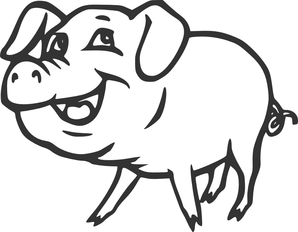 clip freeuse library Black and white animal clipart. Free clip art animals