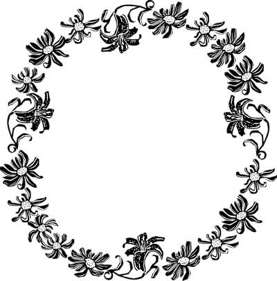 clipart freeuse Black And White Flower Border Clipart